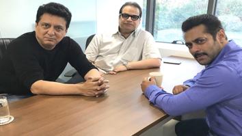 Check out Salman Khan meets producers Sajid Nadiadwala and Ramesh Taurani