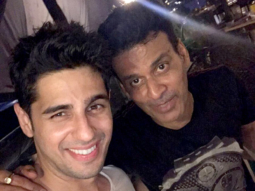 Check out Sidharth Malhotra and Manoj Bajpayee party hard at the Aiyaary wrap-up party