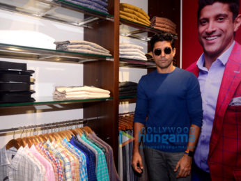 Farhan Akhtar graces the launch of the Linen Club store
