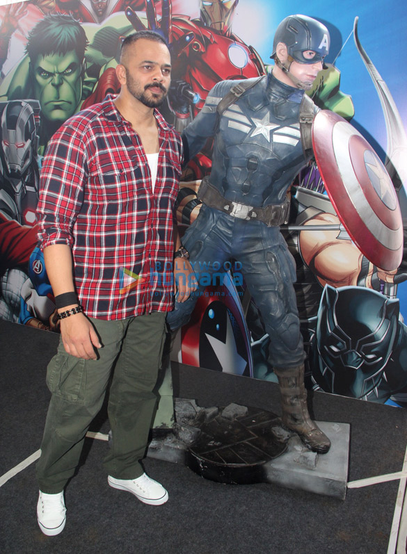 Rohit Shetty shows his love for Ironman and Captain America
