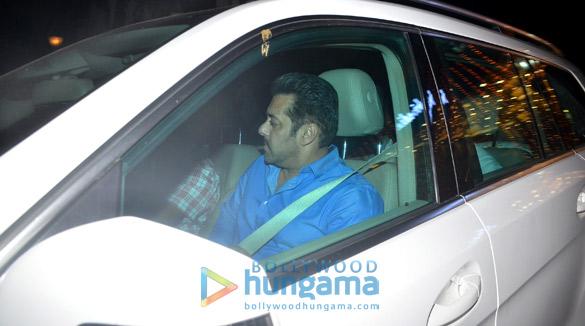 Salman Khan snapped outside his office