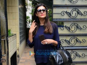 Sushmita Sen snapped outside her office