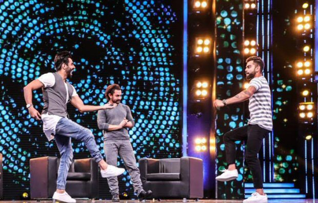 WHOA! Aamir Khan learns Punjabi moves from Virat Kohli and Aparshakti Khurana