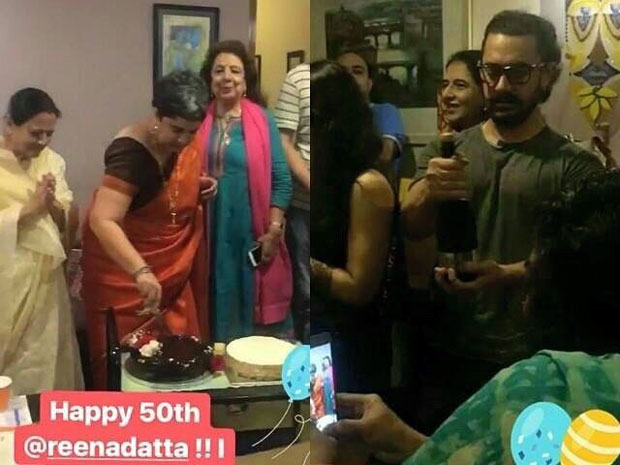 Watch Aamir Khan celebrates ex-wife Reena Dutta's 50th birthday