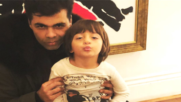 AbRam's pout in this picture with Karan Johar is the cutest thing on the internet