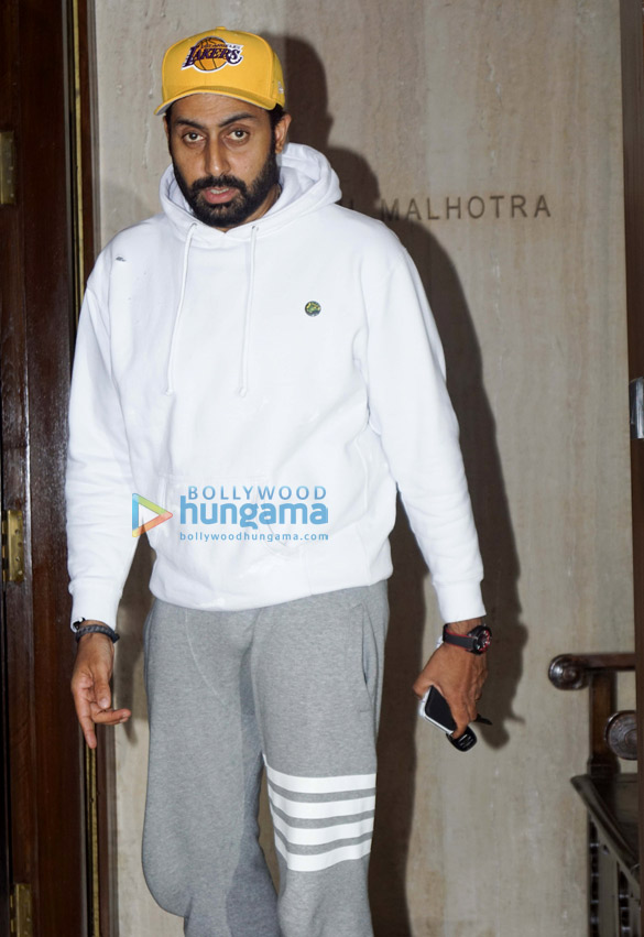 Abhishek Bachchan and Aishwarya Rai Bachchan snapped at Manish Malhotra's home