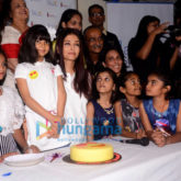 Aishwarya Rai Bachchan, her mother and Aradhya Bachchan snapped with kids from the Smile Foundation NOG