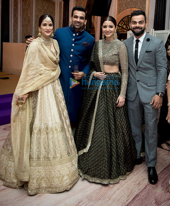 Anushka Sharma Virat Kohli Others Attend Zaheer Khan Sagarika