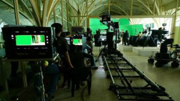 Behind the scenes Shah Rukh Khan gives a sneak peek of his film set