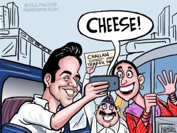 Bollywood Toons Varun Dhawan fined by Mumbai Traffic Polie