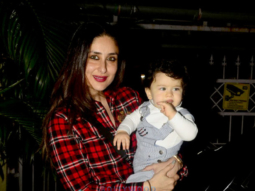 CUTE! Kareena Kapoor Khan strikes a pose with an excited baby Taimur Ali Khan  (3)