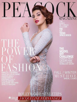 Jacqueline Fernandez On The Cover Of Peacock, Nov 2017