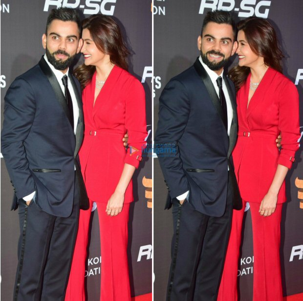 Power couple Anushka Sharma and Virat Kohli looked much in love at Indian Sports Honours 2017