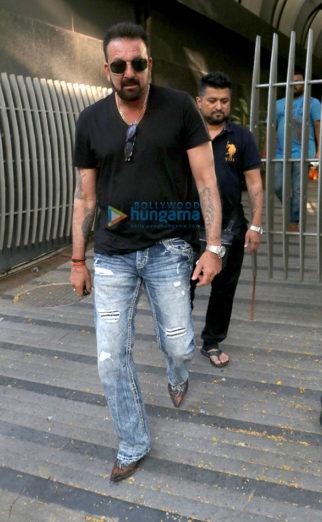 Sanjay Dutt snapped at Avinash Gowariker's office in Khar