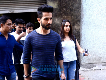 Shahid Kapoor and Zareen Khan snapped in Lower Parel