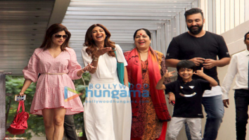 Shilpa Shetty and family snapped in Bandra