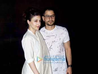 Soha Ali Khan and Kunal Khemu grace the screening of the film 'An Insignificant Man'