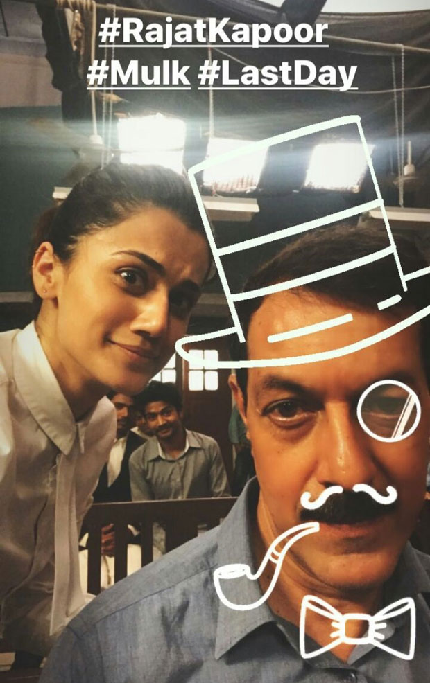 Taapsee Pannu starrer Mulk wrapped up in a funny way and here are the pictures-4
