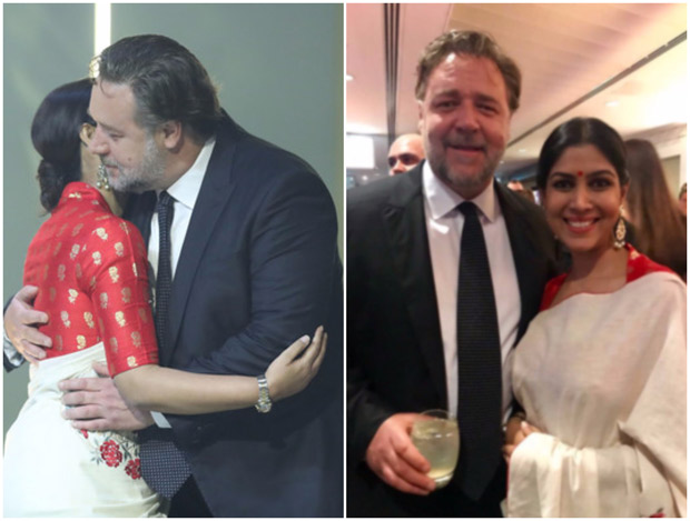 Check out Sakshi Tanwar hugs Russell Crowe while receiving Best Asian Film Award for Dangal (1)