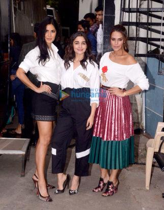 Katrina Kaif and Alia Bhatt snapped on sets of Neha Dhupia's show