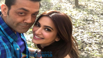 Kriti Kharbanda shares a selfie with co-star Bobby Deol from the sets of Yamla Pagla Deewana Phir Se