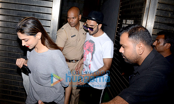 Ranveer Singh and Deepika Padukone at Zoya Akhtar's home
