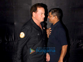 Salman Khan and Salim Khan snapped at Tiger Zinda Hai screening