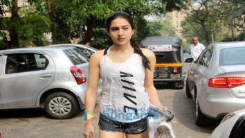 Sara Ali Khan and Ibrahim Khan snapped post their gym session