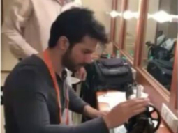 Varun Dhawan works on sewing machine during his workshops for Sui Dhaaga- Made in India