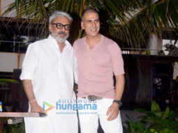 Akshay Kumar and Sanjay Leela Bhansali snapped addressing the media