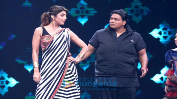 Ganesh Acharya and Shilpa Shetty on the sets of 'Super Dancer Chapter 2'