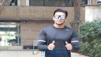 Ranveer Singh spotted at the gym
