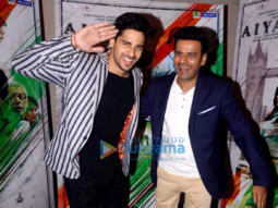 Sidharth Malhotra and Manoj Bajpayee snapped promoting their film Aiyaary