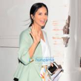 Sunny Leone snapped outside her vanity van in Juhu