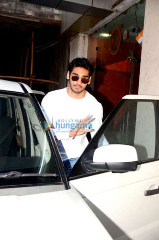 Ahan Shetty spotted after a clinic session in Bandra
