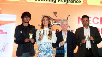 Anusha Dandekar snapped promoting Tiger Balm