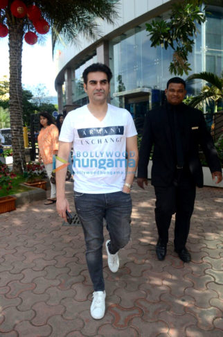 Arbaaz Khan snapped with friend at BKC