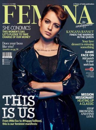 Kangna Ranaut On The Cover Of Femina