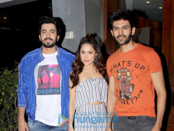 Kartik Aaryan, Sunny Singh Nijjar and Nushrat Bharucha spotted at Salt Water Cafe