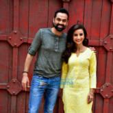 Patralekha and Abhay Deol snapped during a photo shoot for the film Nanu ki Janu