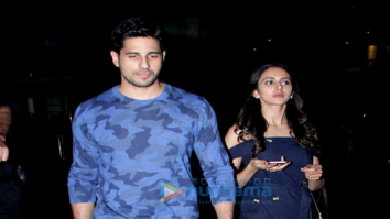 Sidharth Malhotra, Rakul Preet, Karan Johar and Bhumi Pednekar snapped at the airport