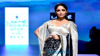 Yami Gautam snapped walking the ramp for Manish Malhotra at the Lakme Fashion Week 2018