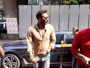 Ajay Devgn snapped promoting his film Raid