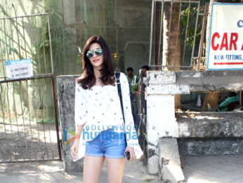 Ameesha Patel and Kriti Sanon spotted at Kromakay salon in Juhu