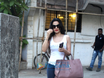 Ameesha Patel snapped at a spa