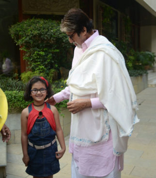 Amitabh Bachchan shares pictures of a young girl who braved the crowd and snuck into his house