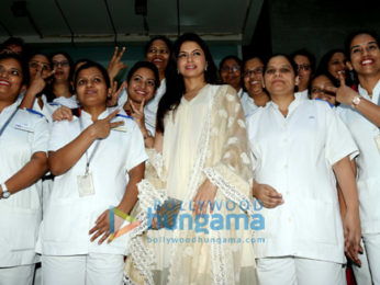 Bhagyashree snapped at Hinduja Hospital