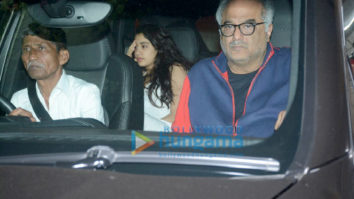 Boney Kapoor and family snapped at Arjun Kapoor's house