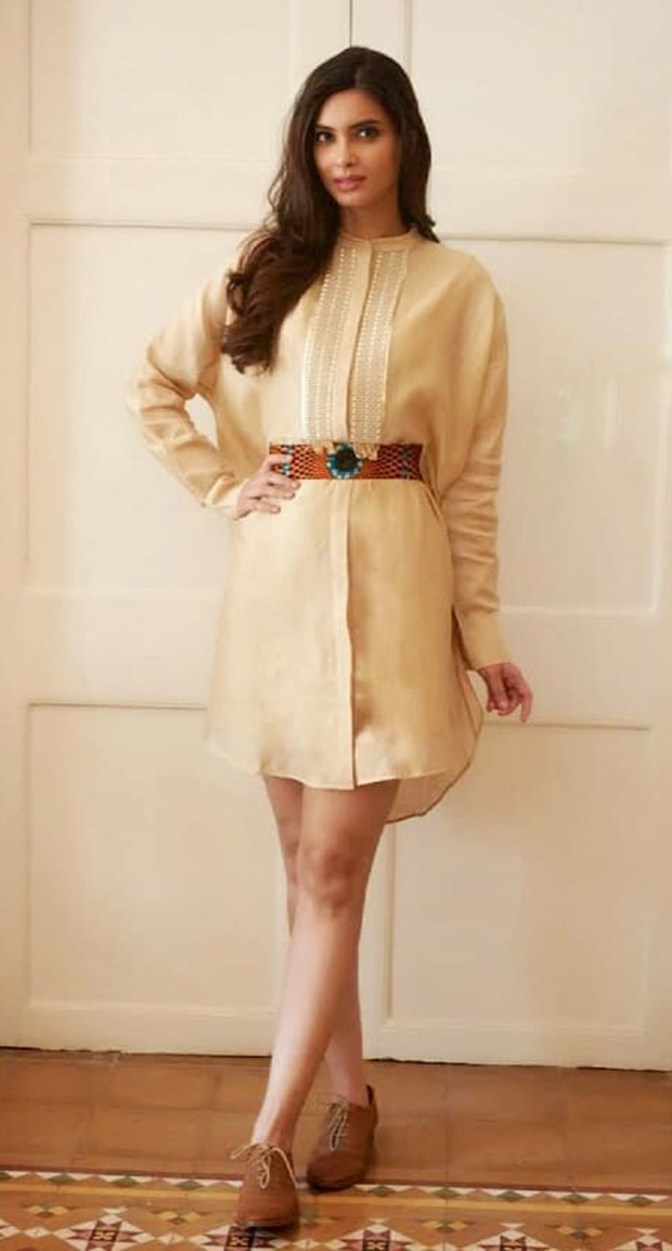 Diana Penty looks chic in all-brown