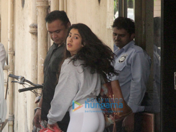 Janhvi Kapoor spotted at the gym in Bandra